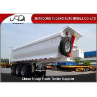 China 3 Axle Dump Semi Trailers  , Hydraulic Cylinder Tipping / Tipper Trailer on sale
