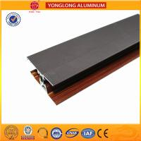 Buy cheap Custom Wood Finished Aluminium Profiles For Windows And Doors product