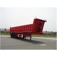 Buy cheap Three Axles Hydraulic Dump Truck Trailer Tipper Semi Trailer 60 - 80 Tons product
