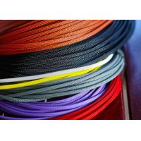 Lightweight / Flexible Braided Nylon Sleeve For Electric Wire Protection