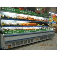 China  Upright Open Chiller Supermarket Showcase Dairy Display Multi deck Open Cooler  for sale