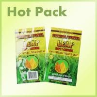 Buy cheap Laminated Foil Three Side Seal Pouches Bag For Tobacco Leaf With Tear Notch product