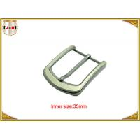 Quality Pearl Nickel Brushed 1.5 Inch Metal Belt Buckle Perfect Design Die Casting Plating for sale