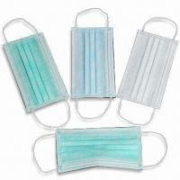 Buy cheap Disposable Nonwoven Medical Masks, Latex and Fiberglass Free, Breathable product
