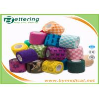 Buy cheap First Aid Care Cohesive Bandage Wrap , Colored Self Adhering Gauze Bandage product