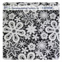Buy cheap Garment Crochet Embroidered Lace Fabric , Eco - Friendly Dyeing product