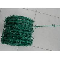 Buy cheap Green Security Barbed Wire Roll Coil Protection For Grass Boundary product