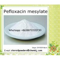 Buy cheap High purity pefloxacin mesylate a lot in stock Peptide Synthesis / Antibiotics 70458-95-6 product