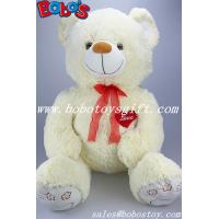 """Buy cheap 29.5""""Birthday Gift Large Plush Teddy Bear Toy With Embroider Red Heart and Paw product"""