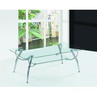 Buy cheap chromed-plated/tempered glass tea table  A038 product