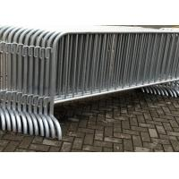Buy cheap Galvanized Temporary Construction Fence Movable Traffic Control Barrier Fence product