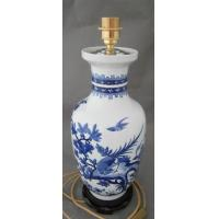 Buy cheap blue and white porcelain lamp from wholesalers