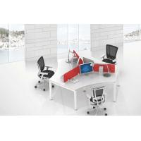Buy cheap 3 staff use full set office table furniture 120 degree 50 x50 steel leg tube product