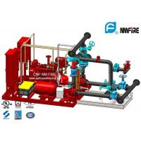 Buy cheap Red 250GPM Skid Mounted Fire Pump Package With Electric / Diesel Engine product