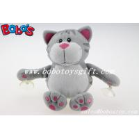 Buy cheap Customized Stuffed Grey Cat Animal With Plastic Suction Cups product