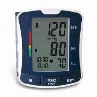 Buy cheap Digital Blood Pressure Monitor with Fully Automatic and Wrist Type, Convenient for Travel product
