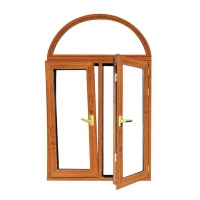 Buy cheap Aluminum Fireproofing Arched Tilt And Turn Windows Swing Open Wood Grain Frame from wholesalers