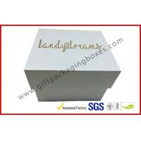 China Pearl white top and base box golden logo , smart watch box with PU pillow wholesale