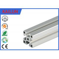 Buy cheap Square Aluminum Industrial Profile , 4040 T Track Aluminum Extrusions Linear Rail product