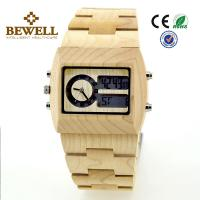 Quality Maple Men Wooden Watches , bewell wooden wrist watch for promotion for sale