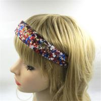 Sequin Bow Hair Bands Unique Headband Bow Ladies Wide 3.2cm