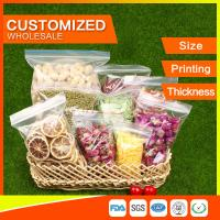 Buy cheap Customized Packing Ziplock Bags LDPE Poly Bags Food Packaging Clear Grip Seal product
