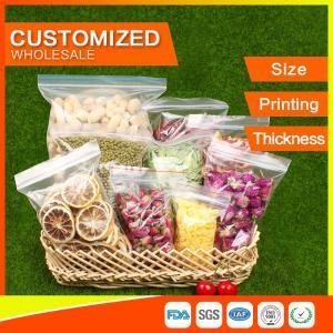 Buy cheap Les sacs zip-lock d'emballage ont adapté le joint aux besoins du client de poignée d'espace libre d'emballage de nourriture de poly-sacs de LDPE product