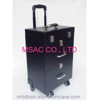 professional makeup trolley case beauty cosmetics bags pu makeup case with wheels