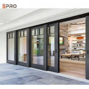 Buy cheap Powder Coated Low E PatioAluminum Sliding Glass Door Exterior Frame product
