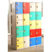 Buy cheap Cell Phone Lockers With Chargers , 10 Tier Beige / Blue / Red Single Tier Lockers product