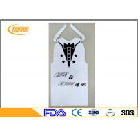 Buy cheap Disposable BBQ PE Bibs For Food Service , Restaurant Bibs With Snaps / Ties from wholesalers