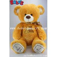 Buy cheap Birthday Gifts Big size orange stuffed softest teddy bear with embroidery chest an paw product