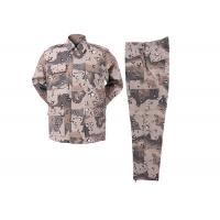 Buy cheap Six Color Desert Multicam Combat Uniform Tear Resistant With 65% Polyester 35% Cotton product