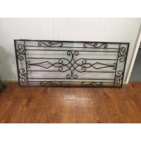 Buy cheap Galvanized Wrought Iron Glass 22*48 Black Inlaid Double  Tempered Glass product