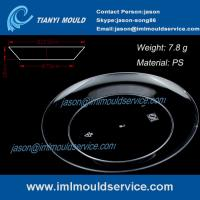 Buy cheap 123mm clear disposable plastic dinner plates mould /disposabl plastic picnic plates mould product