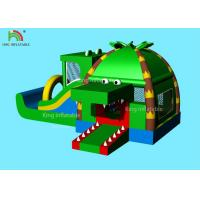 China Indoor Inflatable Park Obstacle Course Jumping Castle Green Crocodile , Coconut  Forest - Themed Blend on sale