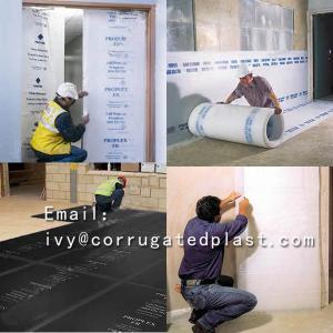 China Antistatic sealing edges plastic polypropylene pp corrugated sheet polypropylene plastic floor protection sheet on sale
