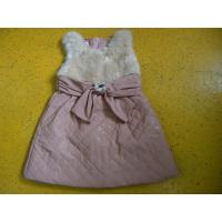 Buy cheap Big Bow Waist 3 Year Little Girls Winter Dresses Sleeveless With Faux Leather Mini Skirt product