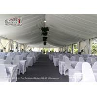 Buy cheap UV Resistance Luxury Wedding Tents With White Lining And Curtain Decoration product
