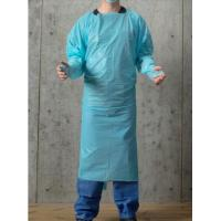 Buy cheap Blue 30-100g Disposable PPE Gown , CPE Surgical Gown , surgical Gown with thumb loop cuff product