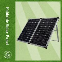 China 100w 2f foldable solar panel / portable solar panel charger with controller for the EU & USA market on sale