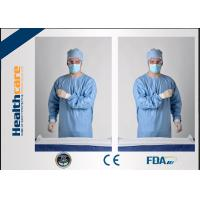 Blue Disposable Surgical Gowns Sterile Reinforced Knitted Wrists Gowns ISO CE FDA Approved