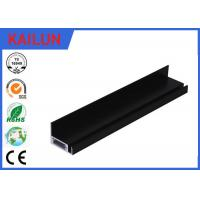 Buy cheap Screw Fixed Aluminum Solar Panel Frame with  Black Anodized Treatment 40 X 40 MM product