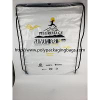 Buy cheap Drawstring Frosted Recycled Plastic Backpack Eco - Friendly Water Proof product