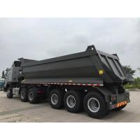 China Mechanical Suspension Heavy Duty Semi Trailers , U Shape 40 T Load Capacity Rear Dump Tipper Semi Trailer on sale