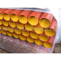 China BS/DIN EN877 cast iron pipe,red epoxy coated wholesale