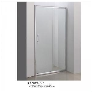 Buy cheap Bathroom Tempered Glass Frameless Shower Doors Easy Installation Customerized Size product
