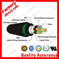 China outdoor fiber optic cable gyfta53 multi cores 9/125 Black PSP armored underground direct buried coaxial fibre optical on sale