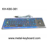 Buy cheap SS Industrial Metal Computer Keyboard With Trackball , Standard USB Or PS2 Output Support product
