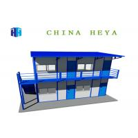 Buy cheap Integrated Prefab Camp Houses Modular Building Slope Shaped Roof Easy Assembly product